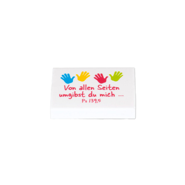 Radiergummi - Kinderhände