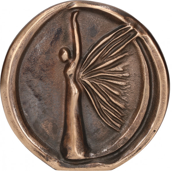 Relief aus Bronze - Engel
