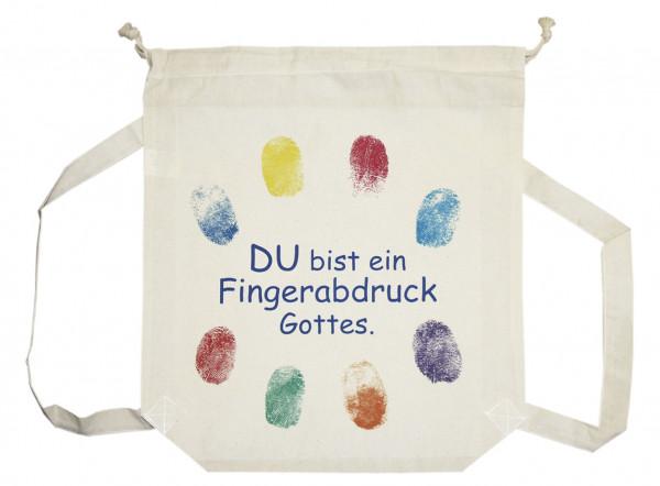 Rucksack - Du bist ein Fingerabdruck Gottes