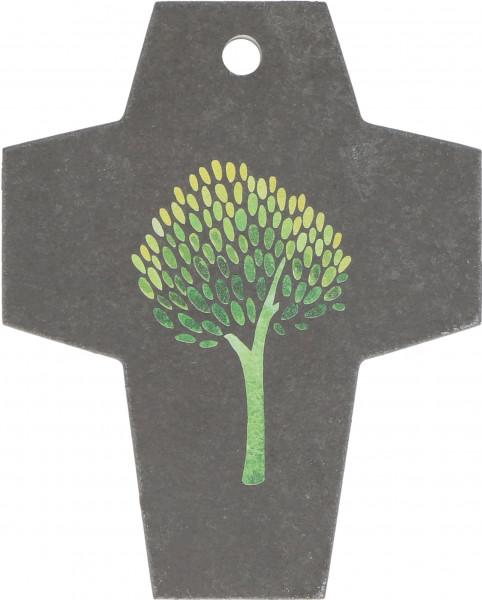 Schieferkreuz - Lebensbaum & Grün