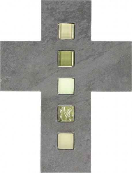 Schieferkreuz - Mosaik & Steine