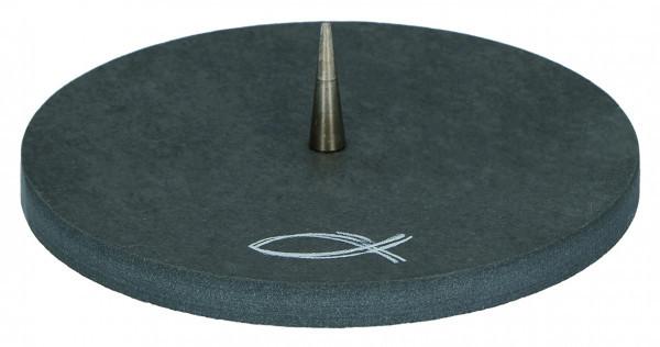 Schieferleuchter - Modernes Fisch-Symbol