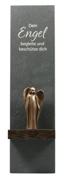 Schieferstele - Dein Engel & Bronzeengel