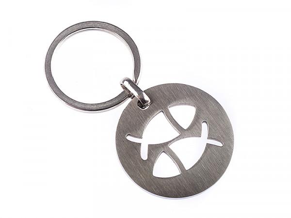 Schlüsselanhänger - Edelstahl & Fische