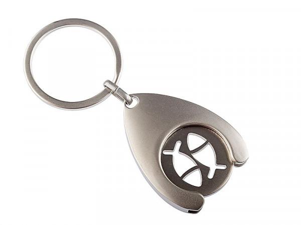 Schlüsselanhänger - Einkaufswagen-Chip & Fische