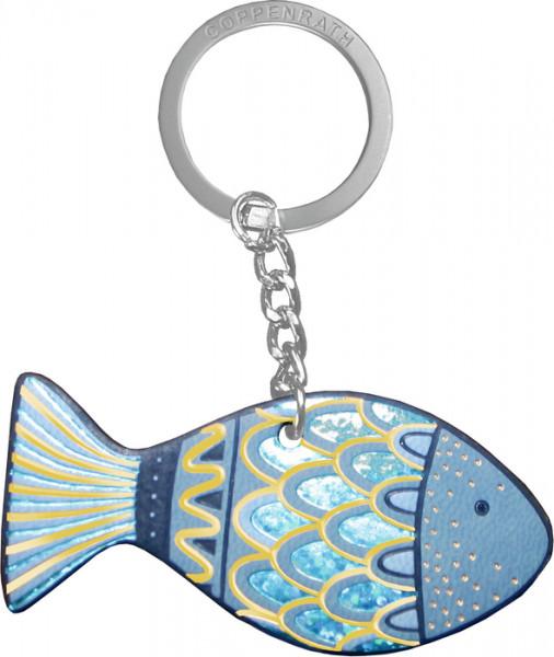 Schlüsselanhänger - Kleiner Segensfisch und Blau