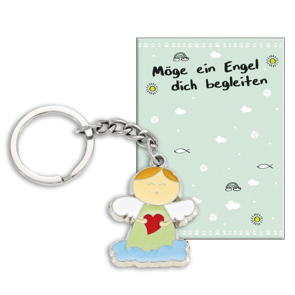 Schlüsselanhänger - Möge ein Engel dich begleiten