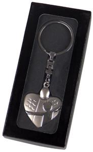 Schlüsselanhänger - Schutzengel-Herz