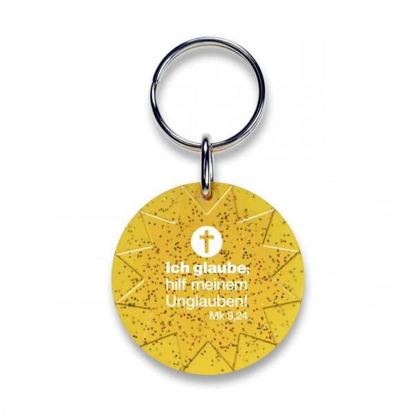 Schlüsselanhänger Sonne & Ich glaube; hilf meinem Unglauben