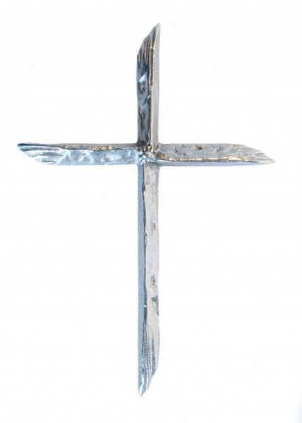 Schmuckkreuz - Astkreuz aus Neusilber