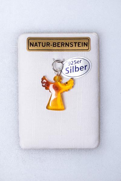 Silber-Anhänger - Bernstein-Engel