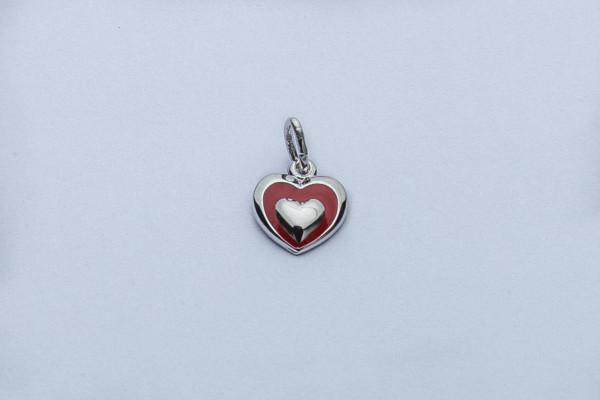 Silber-Anhänger - Kleines Herz & Farbig