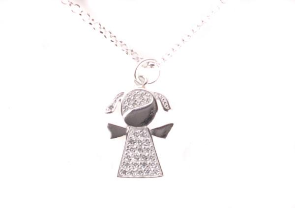 Silberkette - Mädchen & Zirkonia Steine