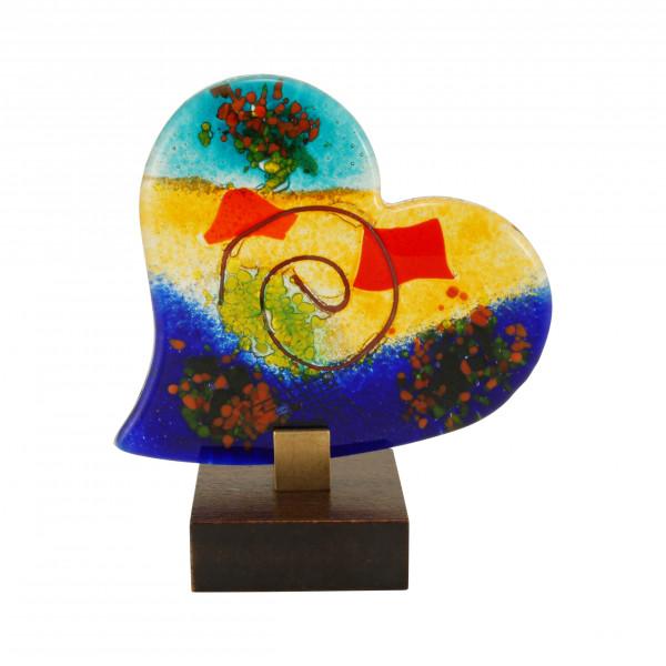 Skulptur - Farbiges Herz & Fuß