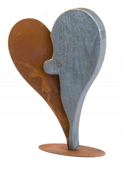 Skulptur - Modernes Herz im Antikeffekt