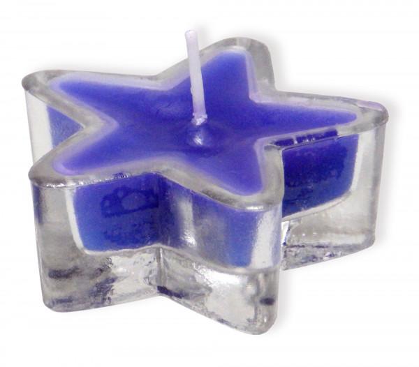Stern-Glas - Farbige Kerze