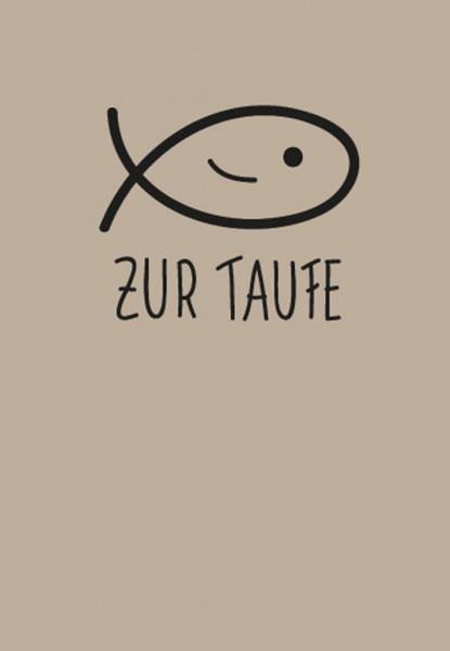 Taufkarte - Lächelnder Fisch