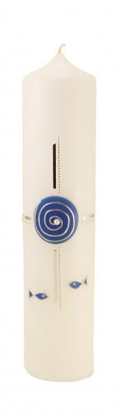 Tischkerze - Spirale & Blau