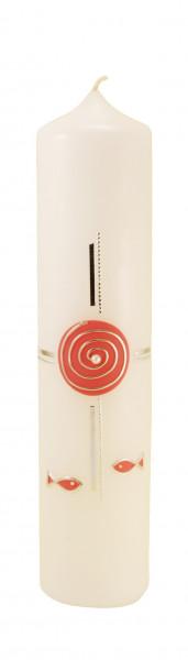 Tischkerze - Spirale & Rosa
