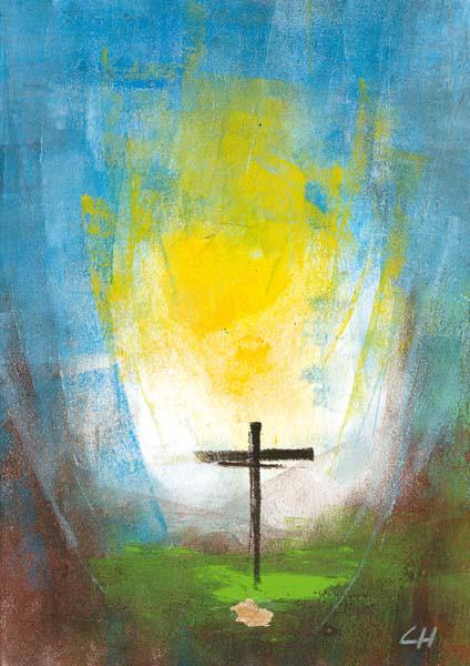 Trauerkarte - Gott wäscht alle Tränen ab