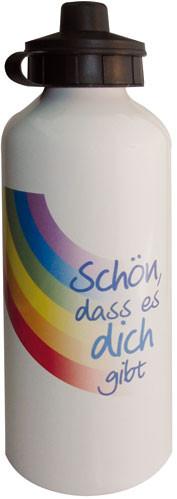 Trinkflasche - Schön, dass es dich gibt & Regenbogen