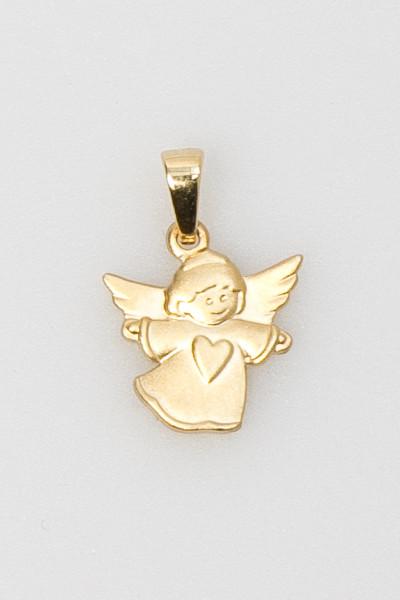 Vergoldeter Engel-Anhänger - Klein & Herz