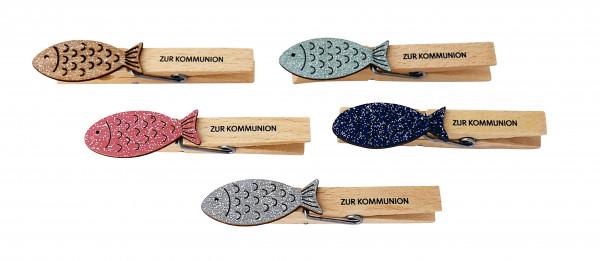 Deko-Wäscheklammer - Fisch & Zur Kommunion