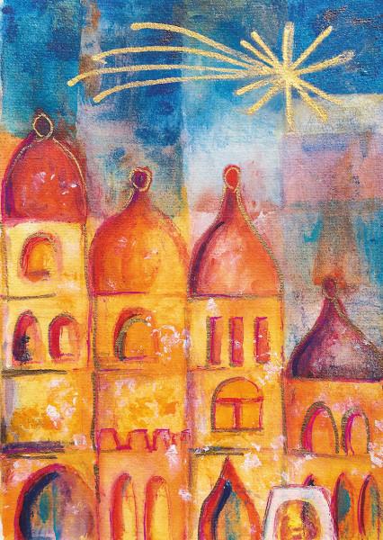 Weihnachtskarte - Bethlehem & Stern