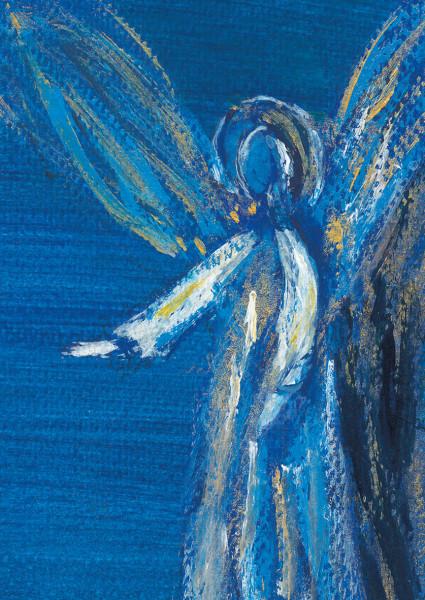 Weihnachtskarte - Engel & Abend