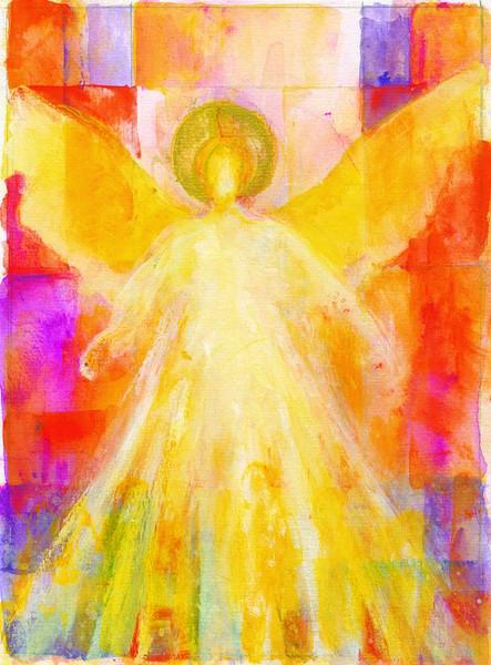 Weihnachtskarte - Engel im Licht