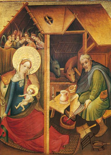 Weihnachtskarte - Geburt Christi