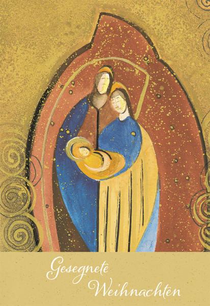 Weihnachtskarte - Heilige Familie & Basteln