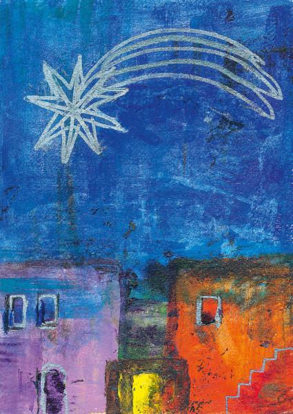 Weihnachtskarte - Stern über Betlehem