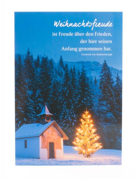 Weihnachtskarte - Weihnachtsfreude ist Freude über den Frieden
