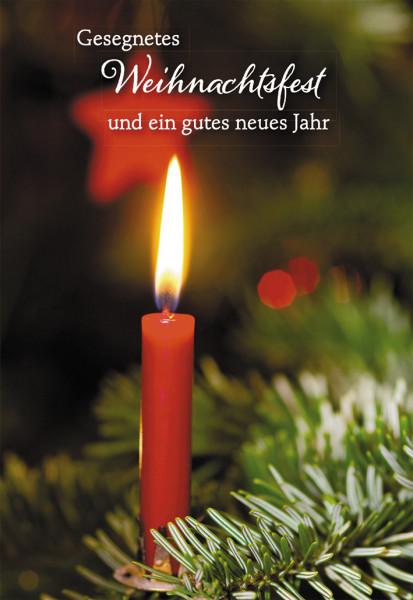 Weihnachtskarte - Wer an mich glaubt & Kerze