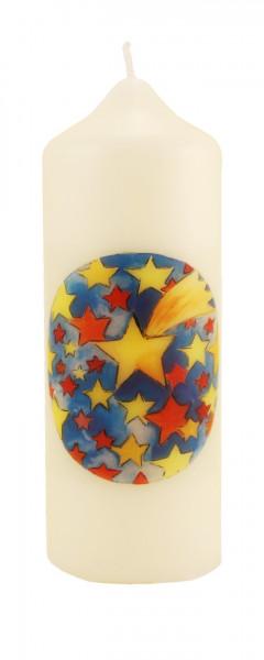 Weihnachtskerze - Sterne