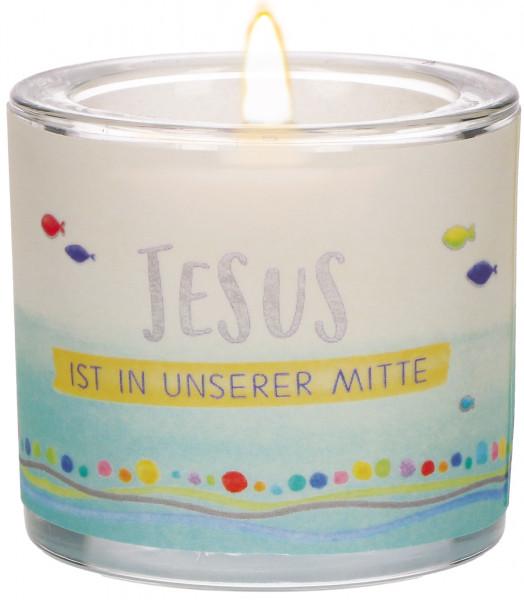 Windlicht - Jesus ist in unsere Mitte
