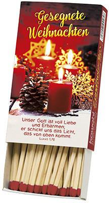 Zündholz-Box - Gesegnete Weihnachten